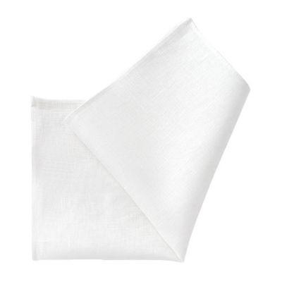 ozie|オジエ 麻白ポケットチーフ・CHA-003-WHITE