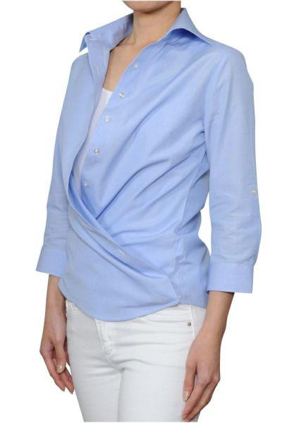 レディースシャツ 6100-B03-A-BLUE-