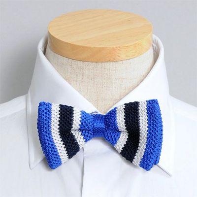 蝶ネクタイ・ニットタイ  BT-K008-BLUE