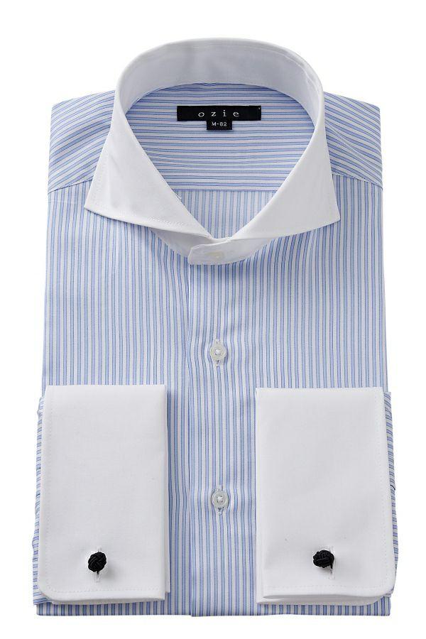 ワイシャツ 8006CL-E01A-SAX