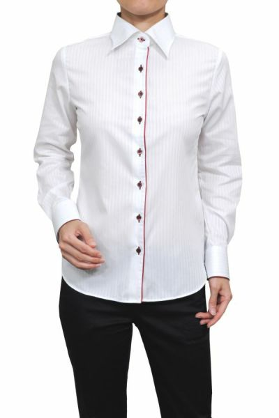 レディースシャツ 6071-F06-1-WHITE-