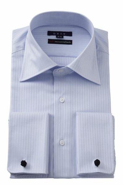 ワイシャツ 8008-E11B-SAX
