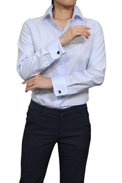 レディースシャツ  6066-G11-2-SAX-