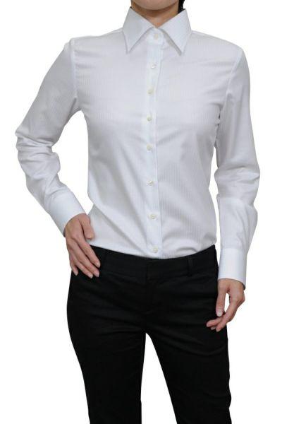 レディースシャツ 6071-G11-WHITE-