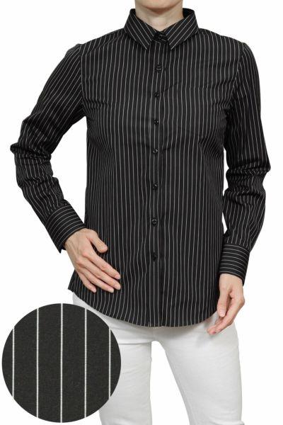 レディースシャツ・ブラウス6400-H07-BLACK-