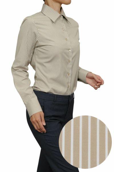 レディースシャツ・ブラウス6071-H09-BEIGE-