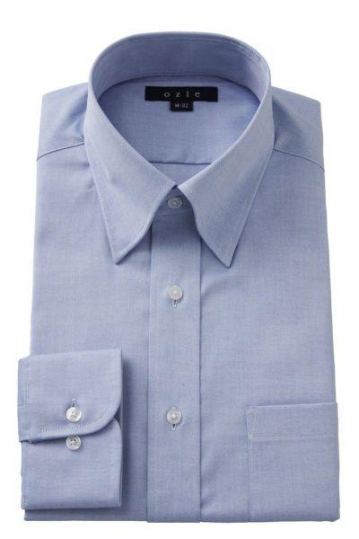 ワイシャツ 8076-E07B-BLUE