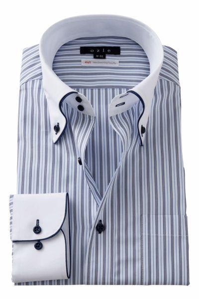 ワイシャツ 8065EPCL-A02A-BLU