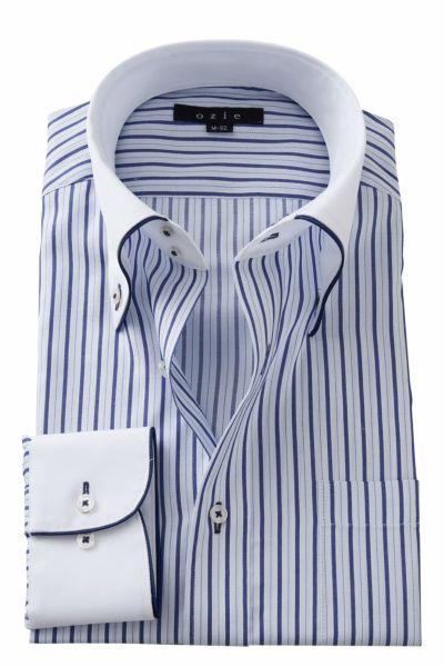 ワイシャツ 8065EPCL-A02B-BLU