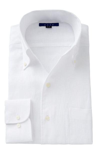 リネンシャツ・麻シャツ 8044A-A04A-WHITE