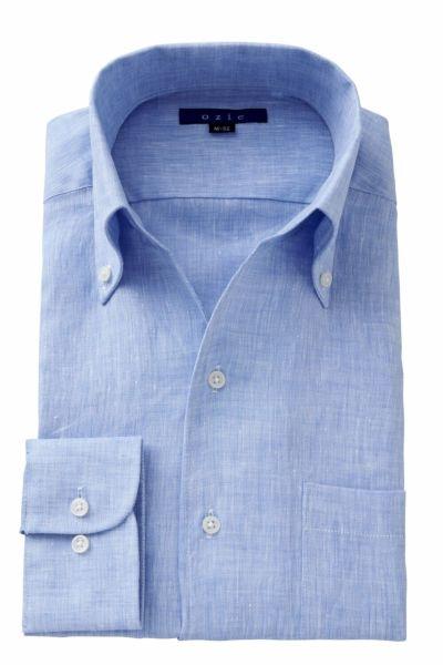 リネンシャツ・麻シャツ 8044A-A04B-BLUE
