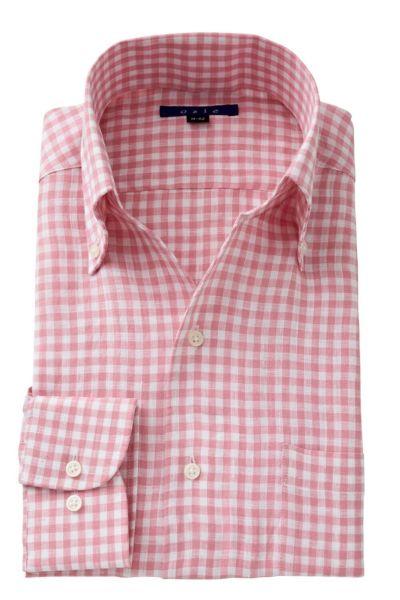 リネンシャツ・麻シャツ 8044A-A04E-PINK