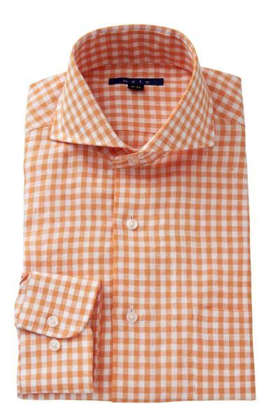 リネンシャツ・麻シャツ 8070A-A04D-ORANGE