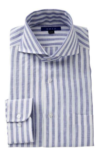 リネンシャツ・麻シャツ 8070A-A04E-BLUE