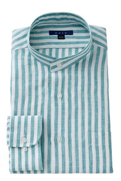 リネンシャツ・麻シャツ 8063A-A04B-GREEN