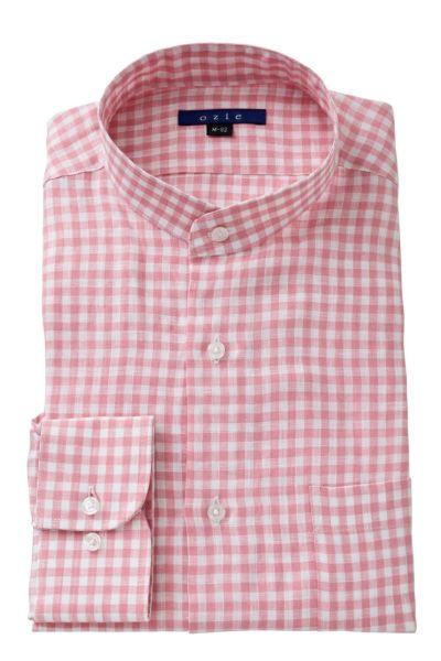 リネンシャツ・麻シャツ 8063A-A04D-PINK