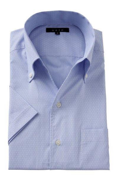 ワイシャツ・カッターシャツ・半袖 8044SS-A04E-BLUE