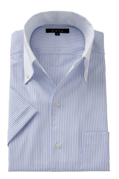 ワイシャツ・カッターシャツ・半袖 8044SSCL-A04A-BLUE