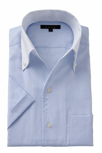 ワイシャツ・カッターシャツ・半袖 8044SSCL-A04B-SAX