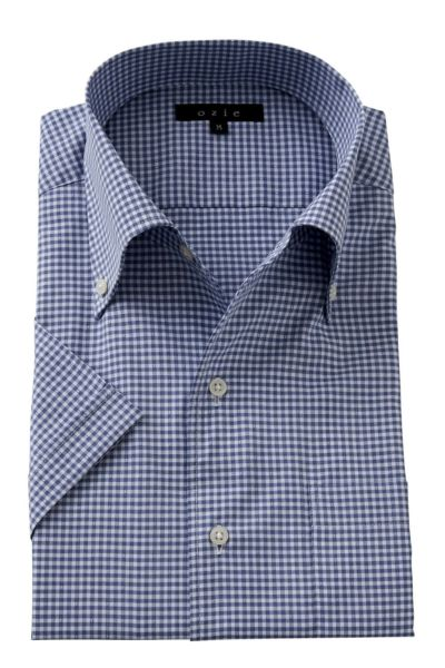 ワイシャツ・カッターシャツ・半袖 8051SS-A04E-NAVY