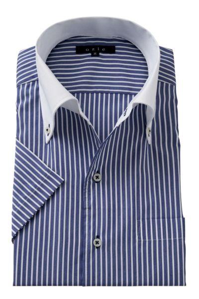 ワイシャツ・カッターシャツ・半袖 8051SSCL-A04B-NAVY