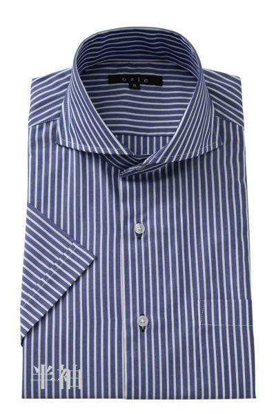 ワイシャツ・カッターシャツ・半袖 8070SS-A04E-NAVY