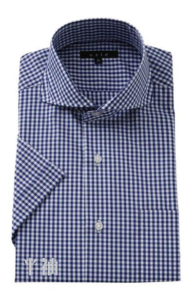 ワイシャツ・カッターシャツ・半袖 8070SS-A04F-NAVY