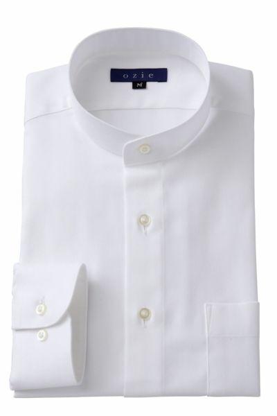 スタンドカラーシャツ マオカラー 8063-A05A-WHITE