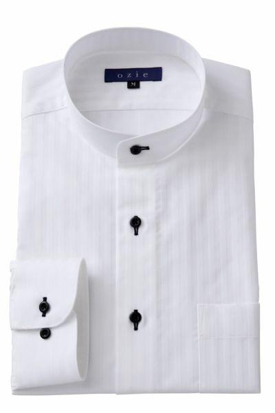 スタンドカラーシャツ マオカラー 8063-A05C-WHITE