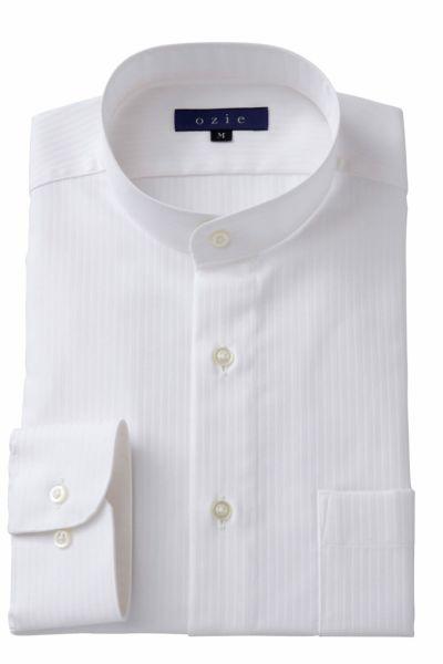 スタンドカラーシャツ マオカラー 8063-A05B-WHITE