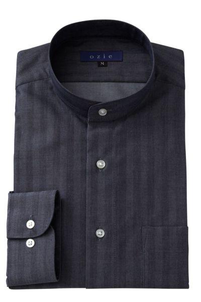 スタンドカラーシャツ マオカラー 8063-A05E-NAVY