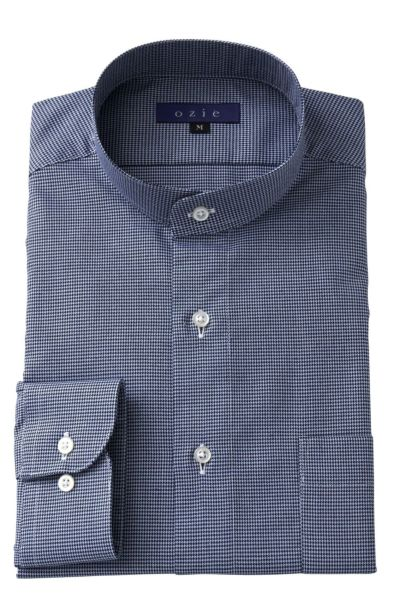 スタンドカラーシャツ マオカラー 8063-A05F-BLUE
