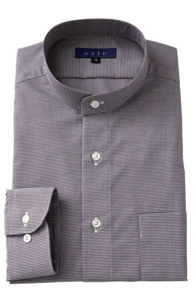 スタンドカラーシャツ マオカラー 8063-A05G-BROWN