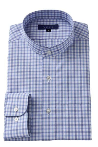 スタンドカラーシャツ マオカラー 8063-A05I-BLUE