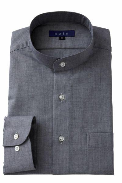 スタンドカラーシャツ マオカラー 8063-A05J-GRAY