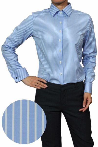 レディースシャツ ブラウス 6066-J06-1-SAX-
