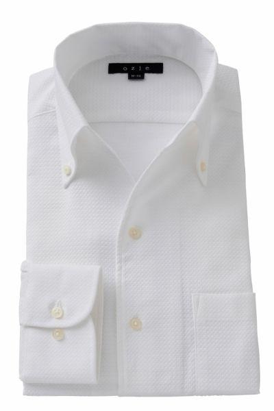 ワイシャツ ストレッチ 8044-A06A-WHITE