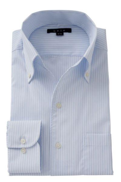 ワイシャツ ストレッチ 8044-A06C-SAX
