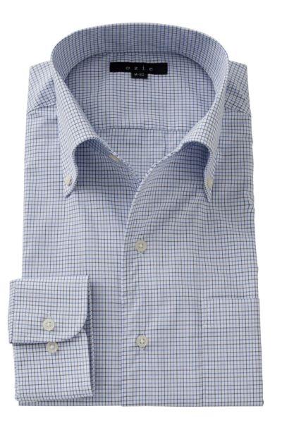 ワイシャツ ストレッチ 8051-A06B-BLUE