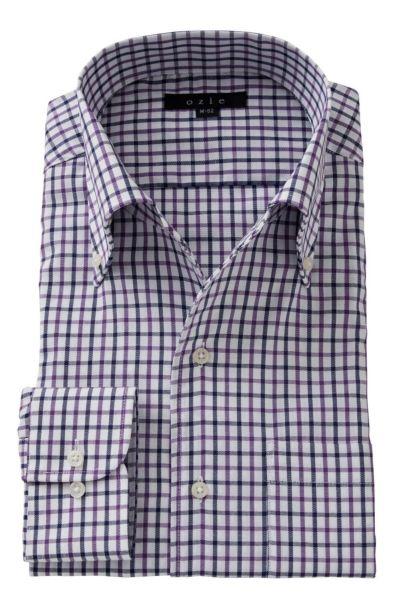 ワイシャツ ストレッチ 8051-A06C-PURPLE