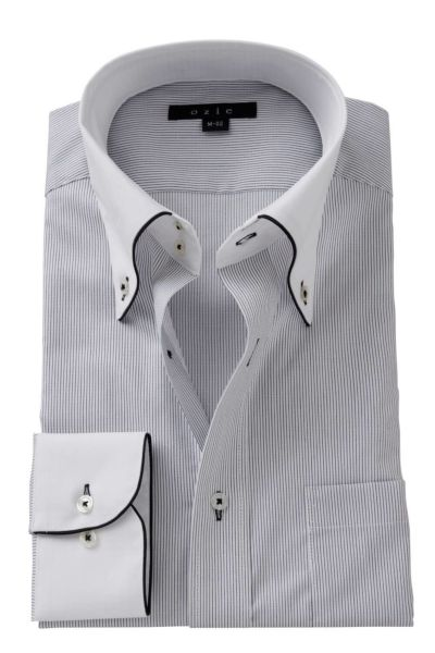ワイシャツ ストレッチ 8065EPCL-A06D-GRY